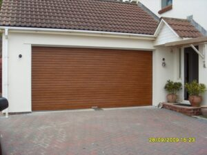 timber garage doors installed in Bridgwater